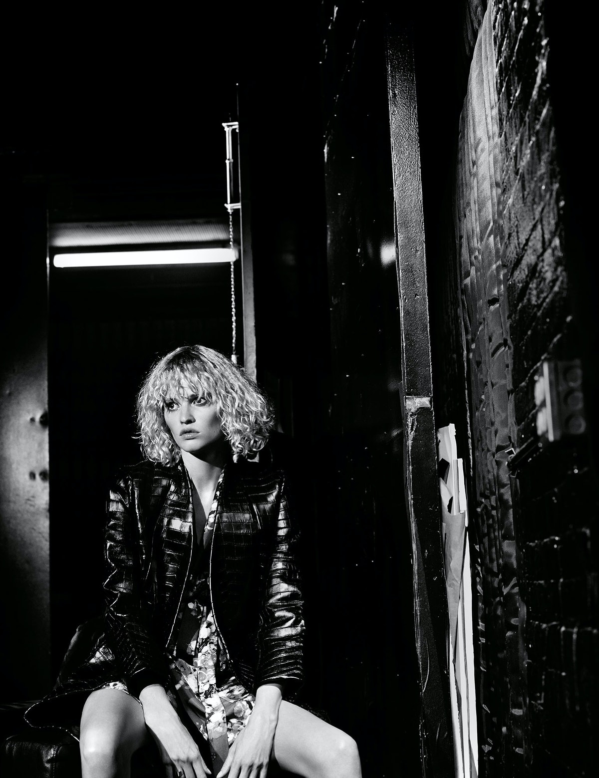 Lara Stone, Salvatore Ferragamo jacket