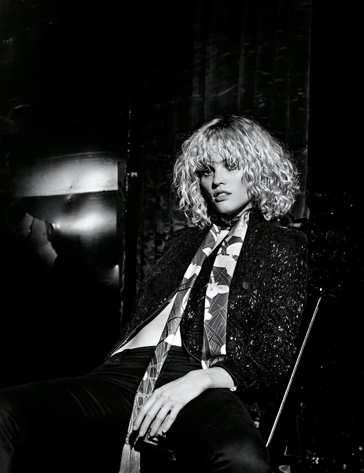 Lara Stone Giorgio armani jacket