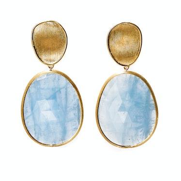 Marco Bicego gold and aquamarine earrings
