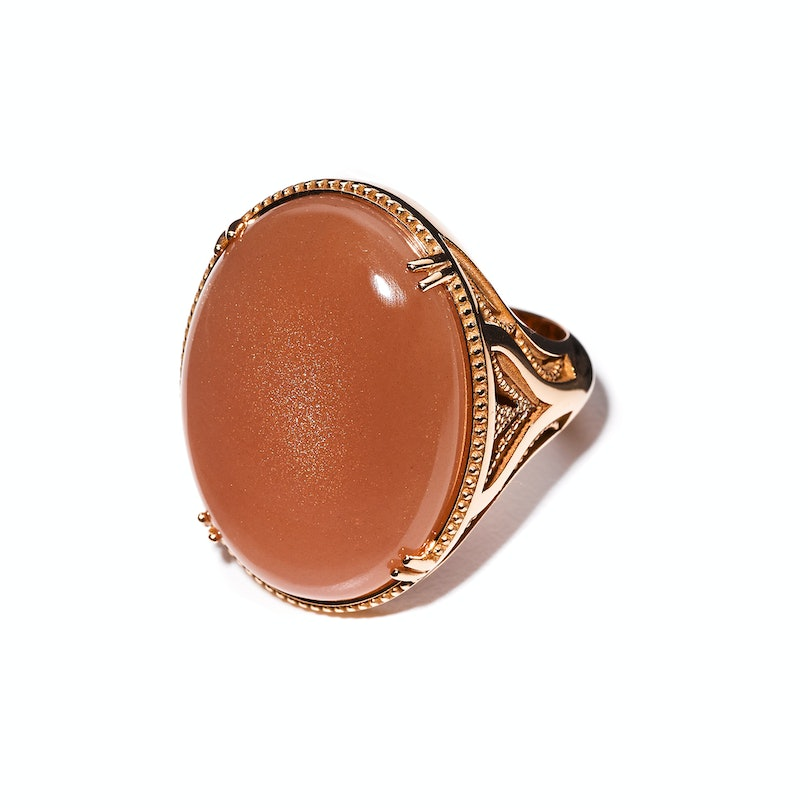 Tacori gold and peach moonstone ring