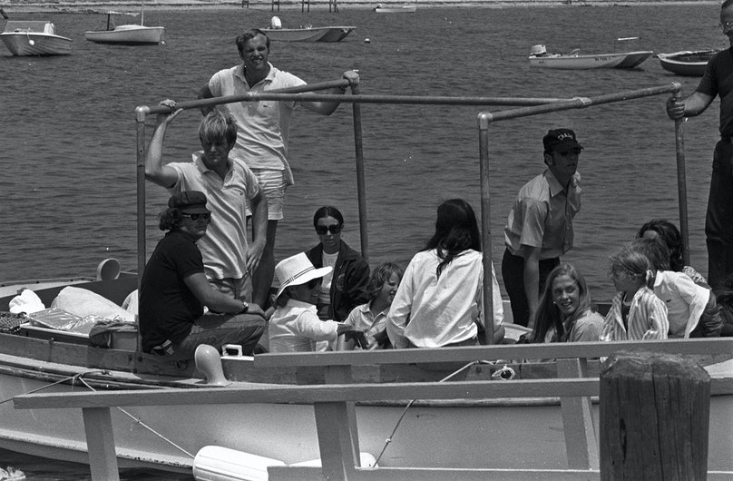 Ethel Kennedy and her family