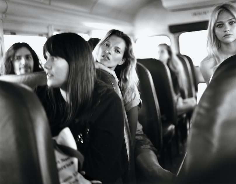 Alexis Mabille, Kate Mulleavy, Kate Moss, and Sasha Pivovarova