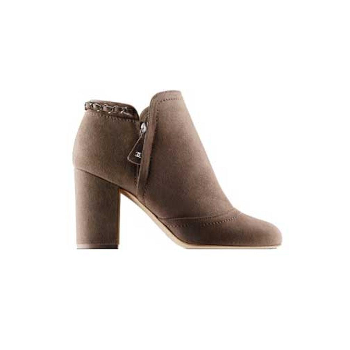Chanel fringe ankle boots