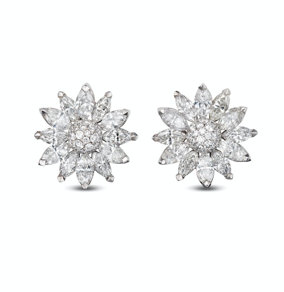 Asprey gold and diamond earrings