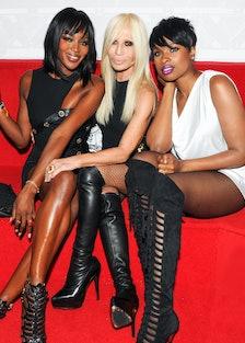 Naomi Campbell, Donatella Versace, and Jennifer Hudson.