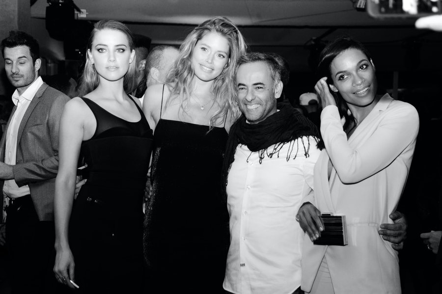 Amber Heard, Doutzen Kroes, Francisco Costa, and Rosario Dawson