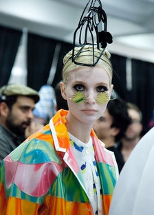 Thom Browne Spring 2015 Backstage Beauty