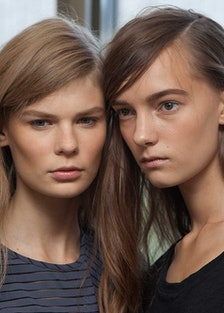 Backstage at Tory Burch Spring 2015