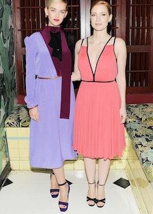 Jess Weixler and Jessica Chastain