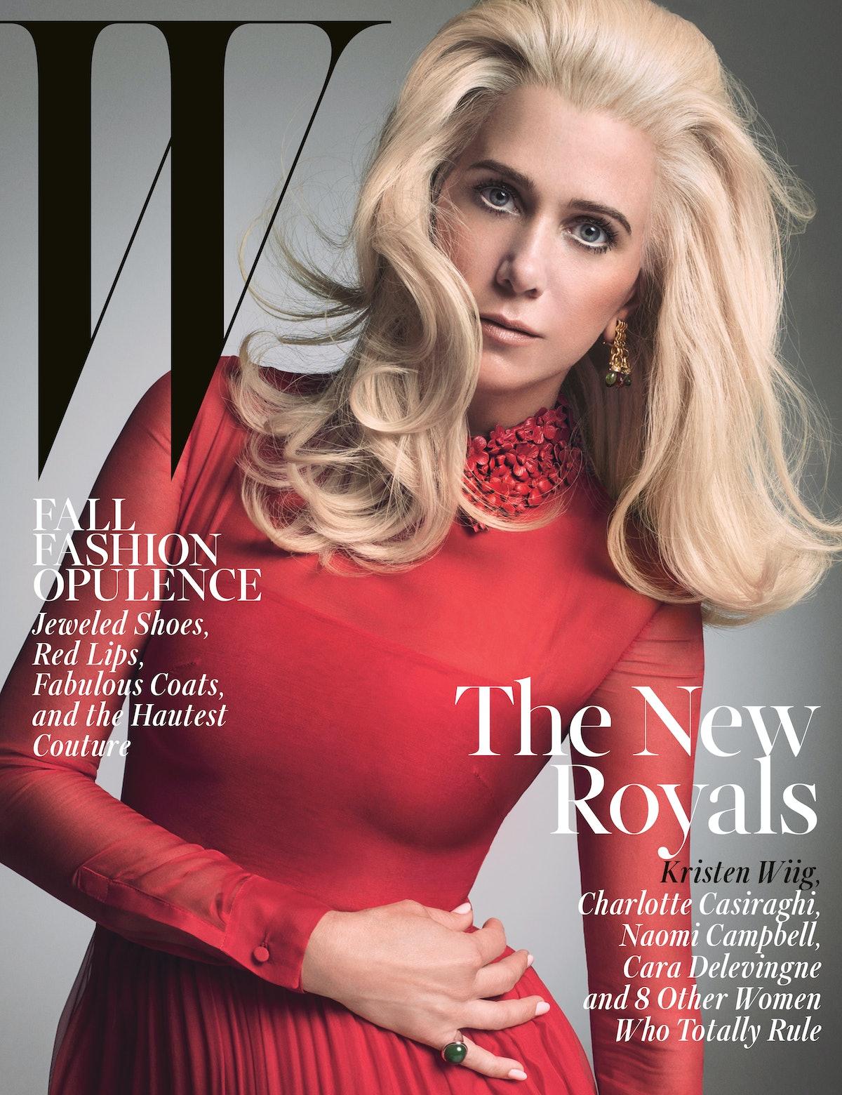 Kristen Wiig W Magazine October 2014