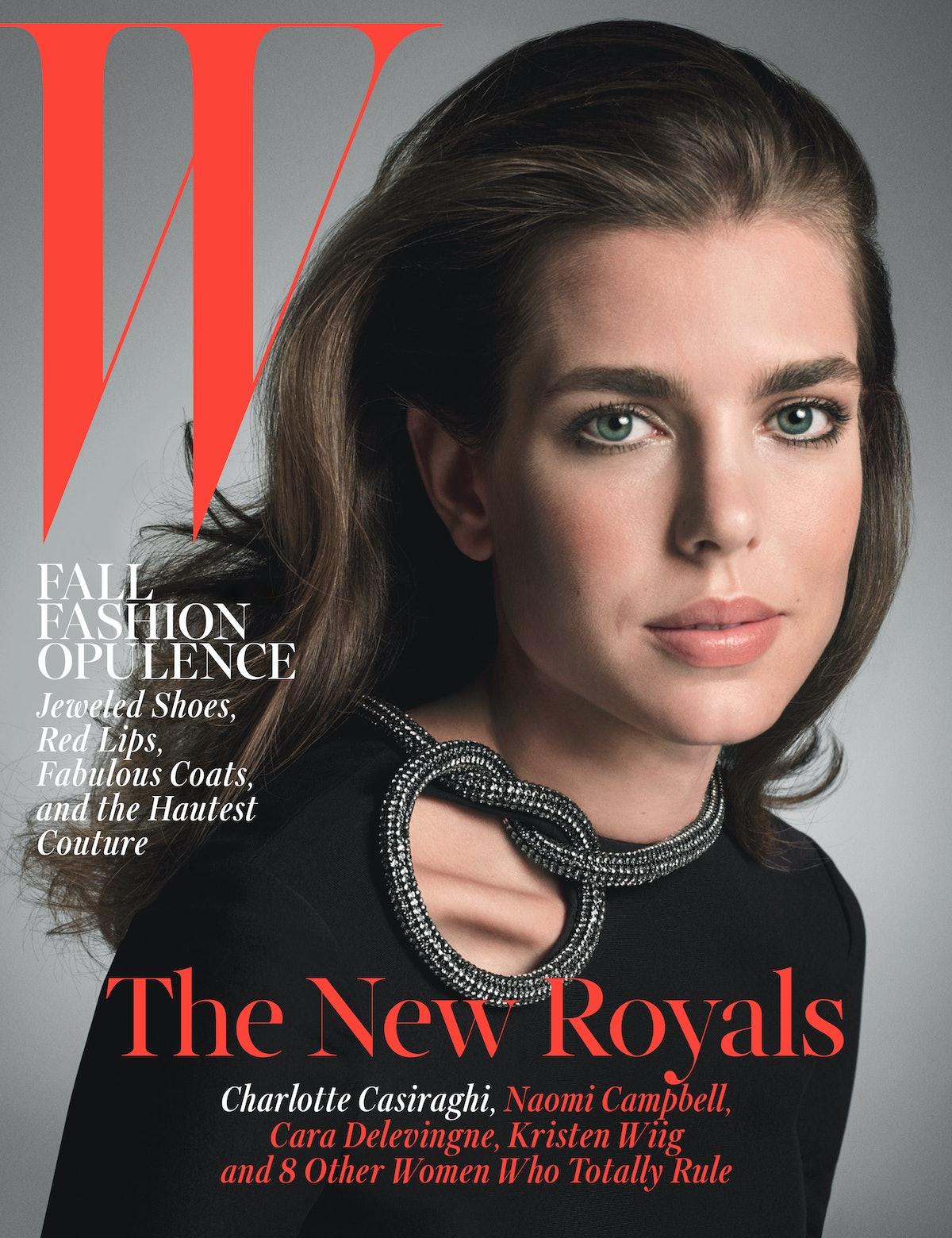 Charlotte Casiraghi W Magazine October 2014
