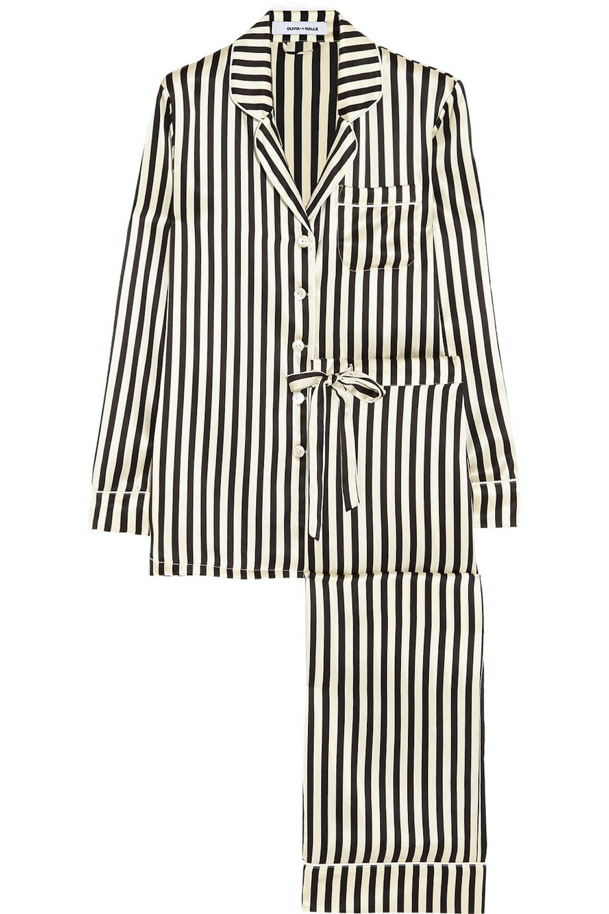 new striped set. Olivia Von Halle PJ