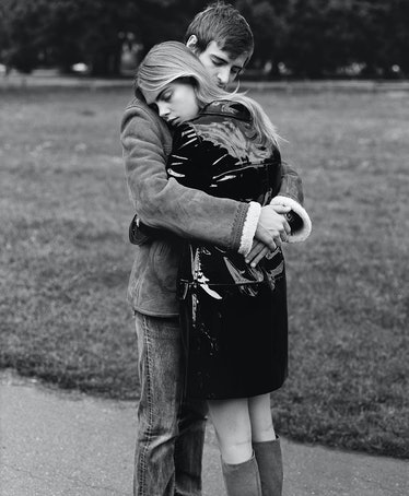 Cara Delevingne hug