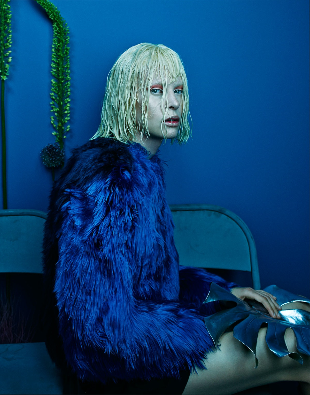 Versace jacket, Maison Martin Margiela skirt