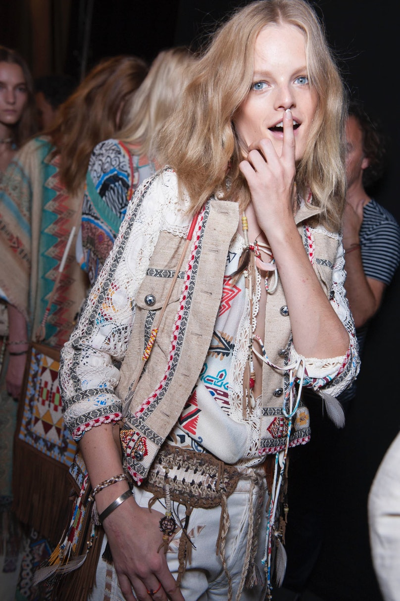 Backstage at Etro Spring 2015