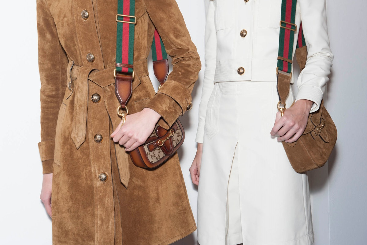Backstage at Gucci Spring 2015