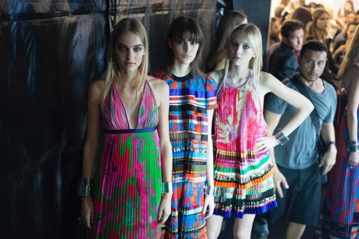 Backstage at Roberto Cavalli Spring 2015