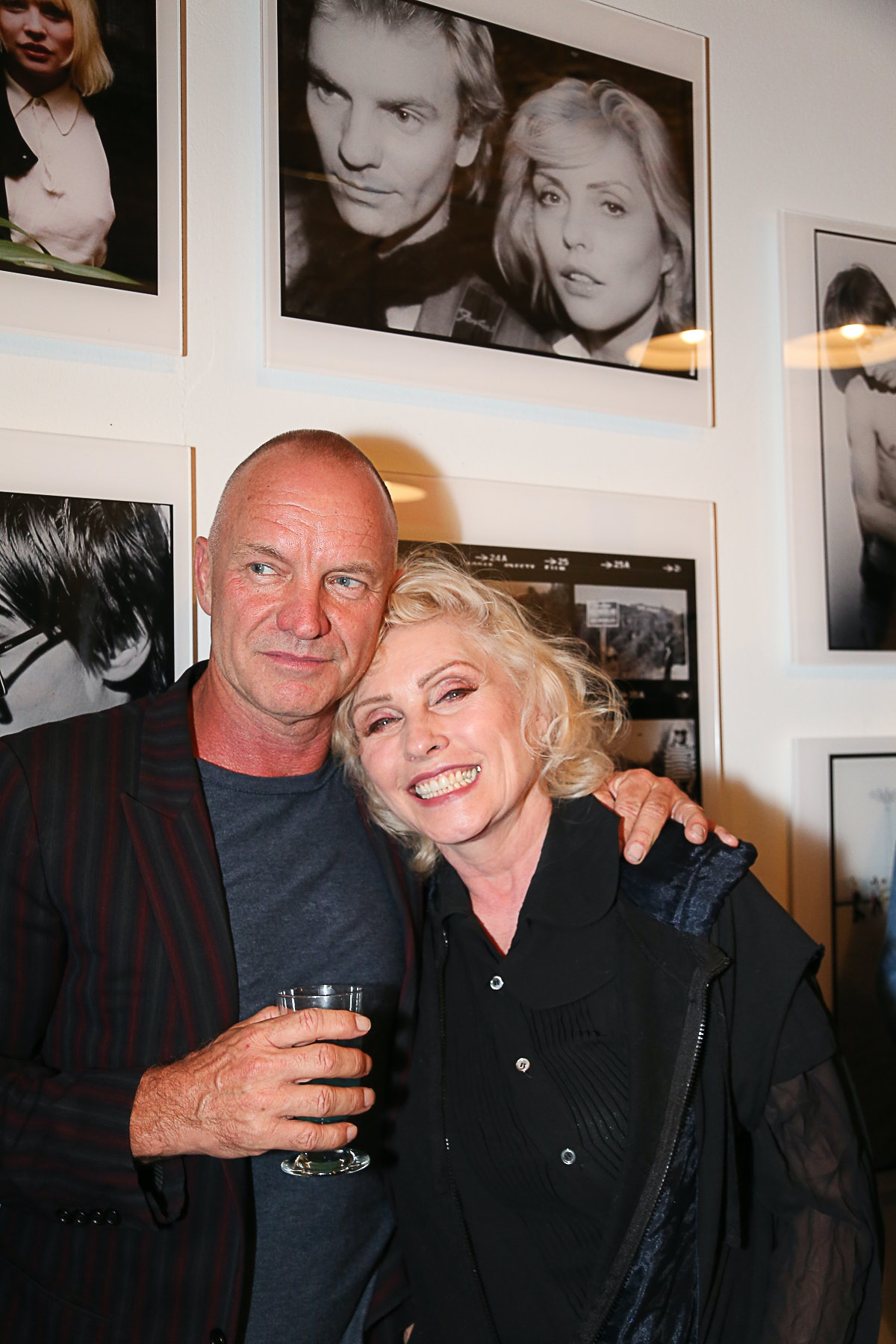 Sting and Debbie Harry