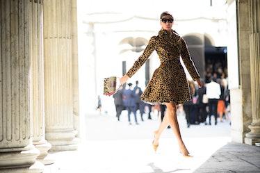 Giovanna Battaglia at Paris Fashion Week Spring 2015 Day 4