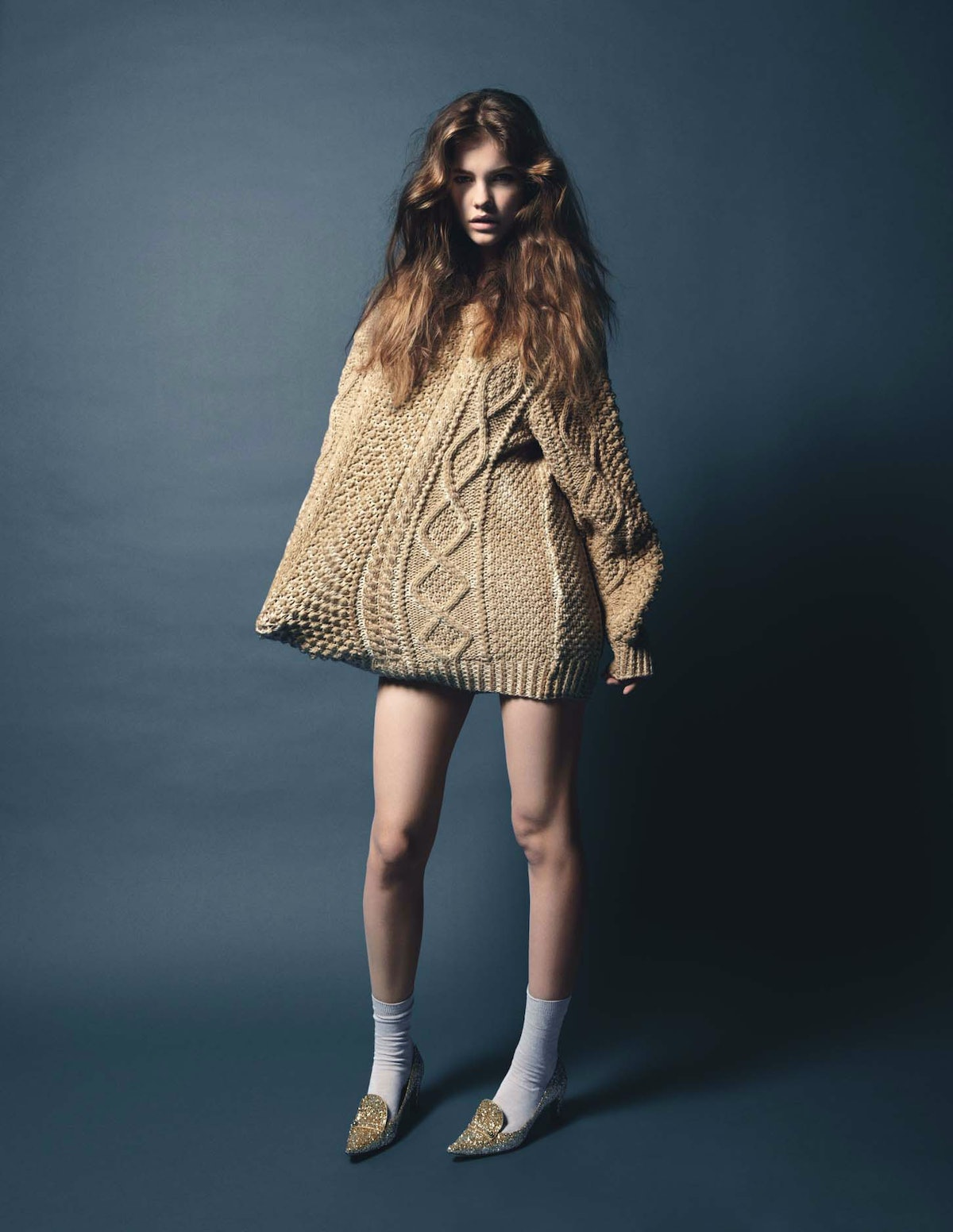 """""""Sweater Girl"""" photographed by Claudia Knoepfel & Stefan Indlekofer, styled by Alex White; W Magazin..."""