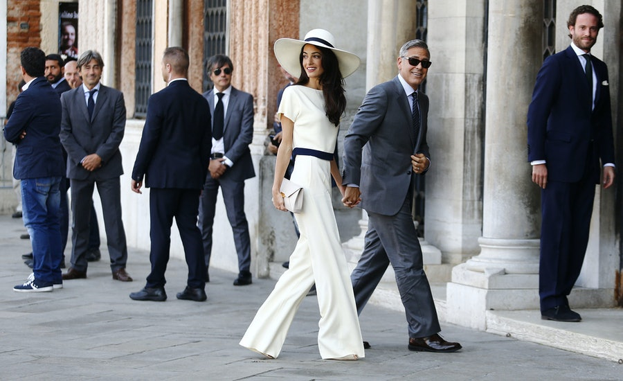 Amal Alamuddin in Stella McCartney