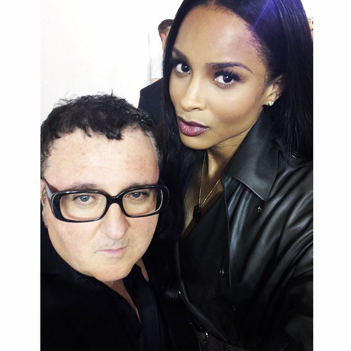Ciara and Alber Elbaz
