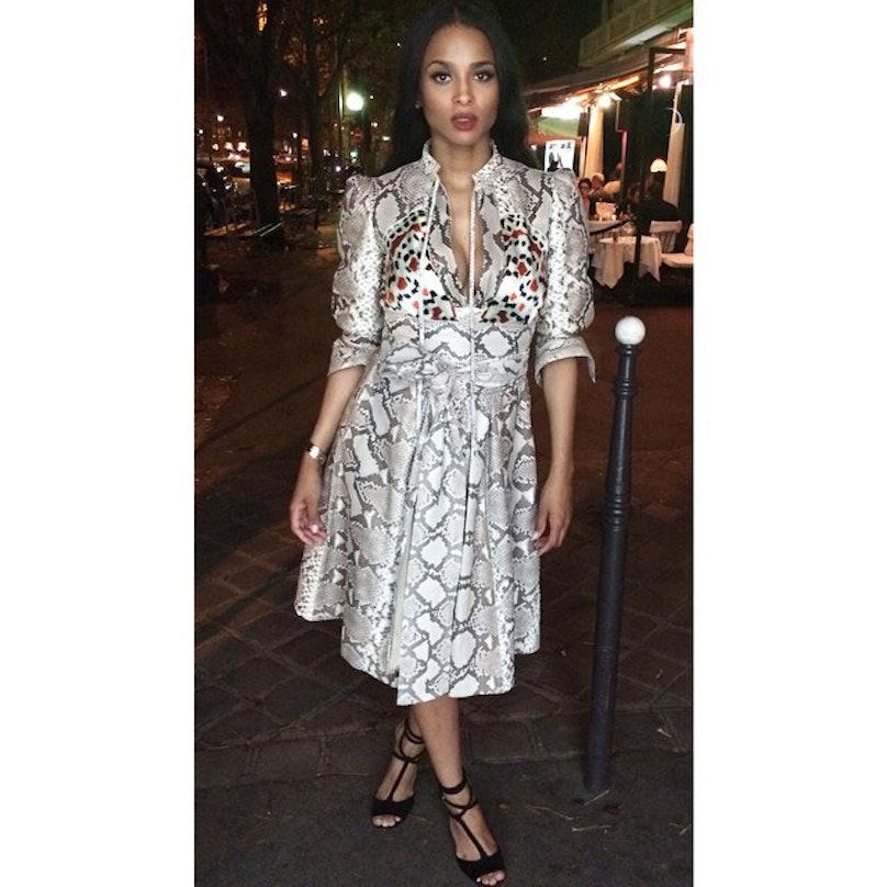 Ciara in a Givenchy dress