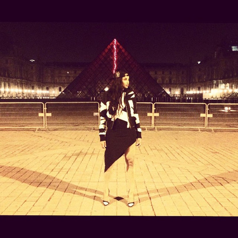 Ciara at the Louvre