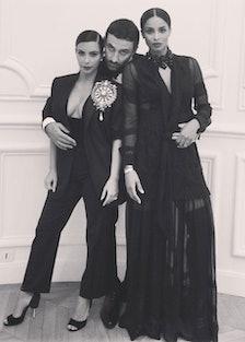Kim Kardashian, Riccardo Tisci, and Ciara