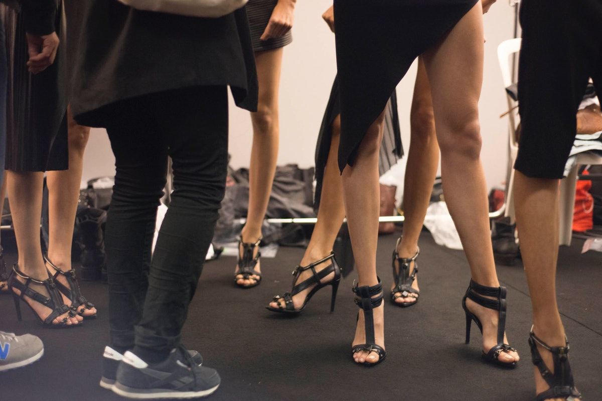 Backstage at Anthony Vaccarello Spring 2015