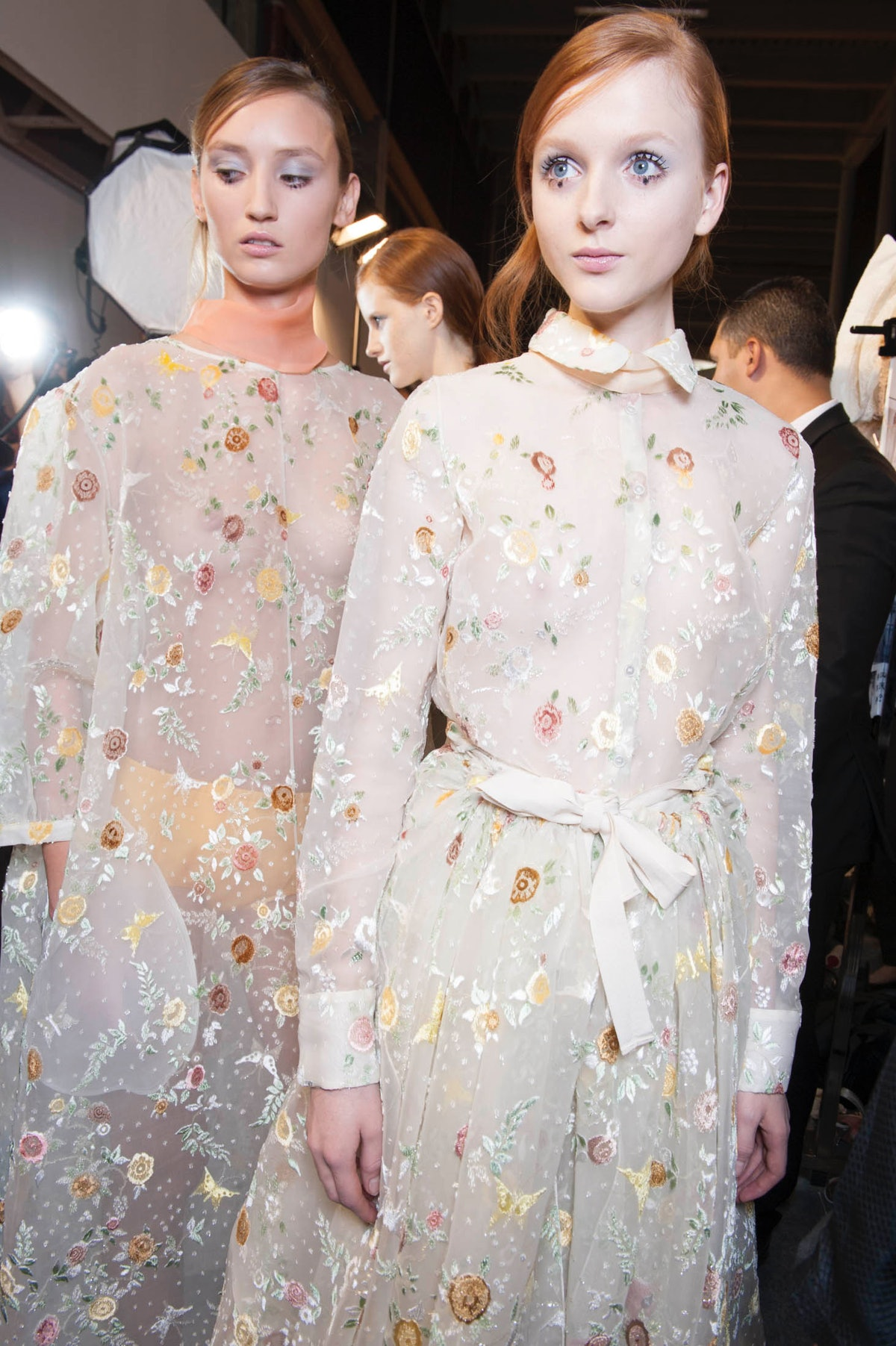 Backstage at Rochas Spring 2015