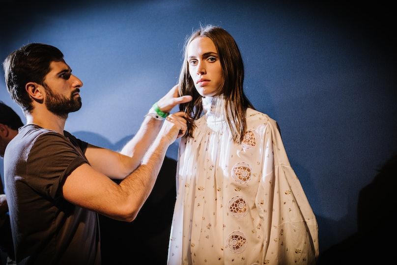 Backstage at Dior Spring 2015