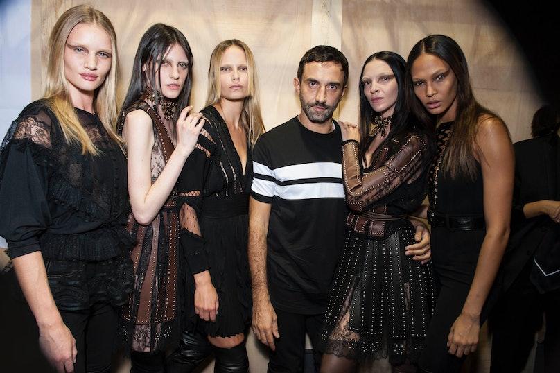 Backstage at Givenchy Spring 2015