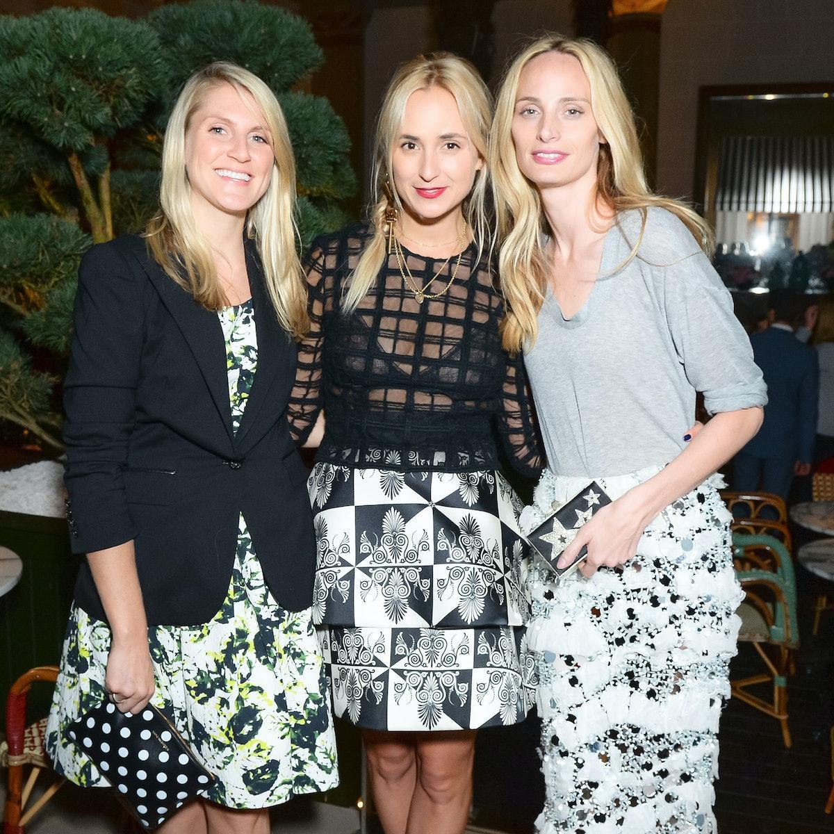 Elisabeth von Thurn und Taxis with Hayley Bloomingdale and Lauren Santo Domingo