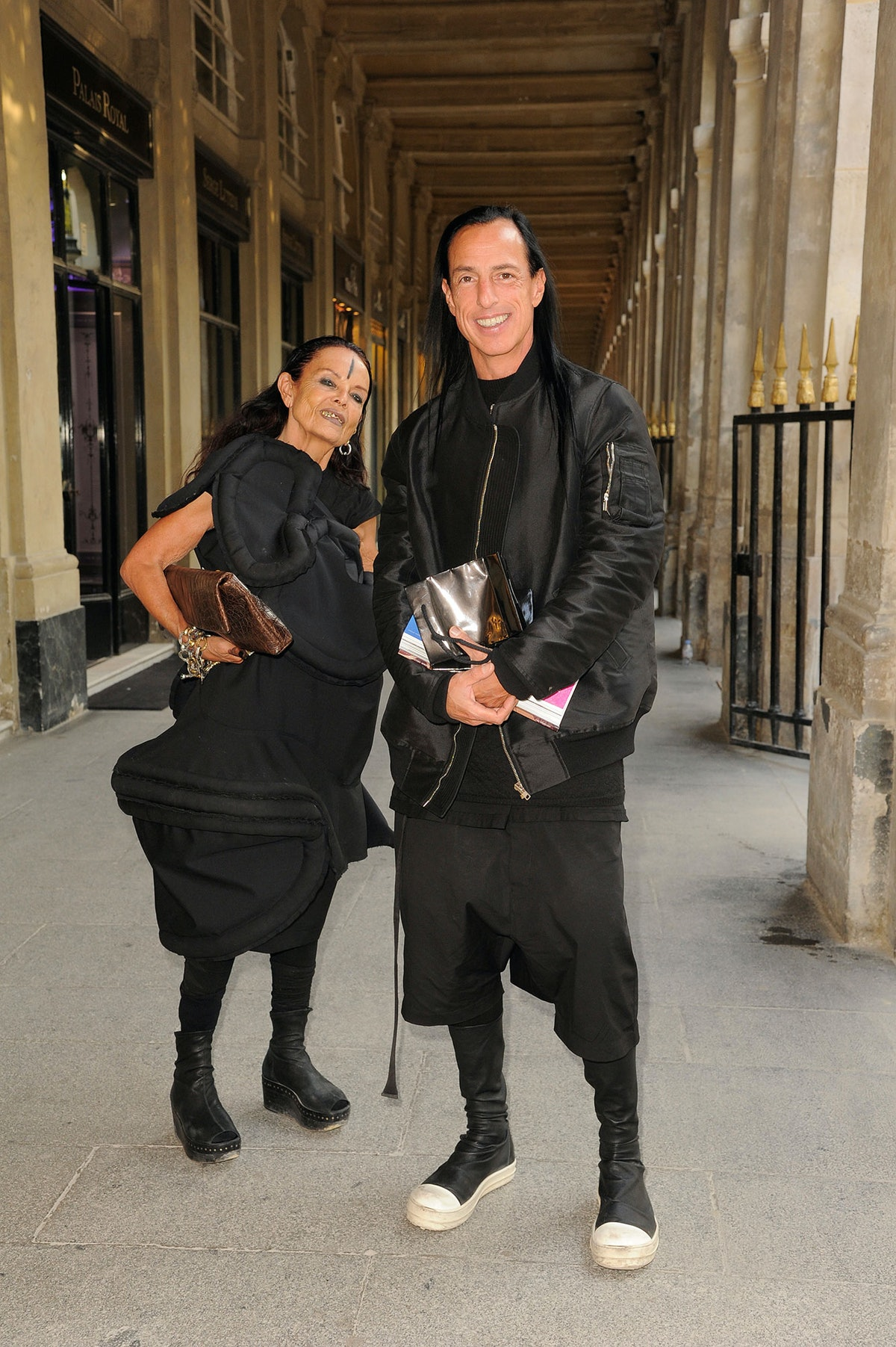 Michelle Lamy and Rick Owens