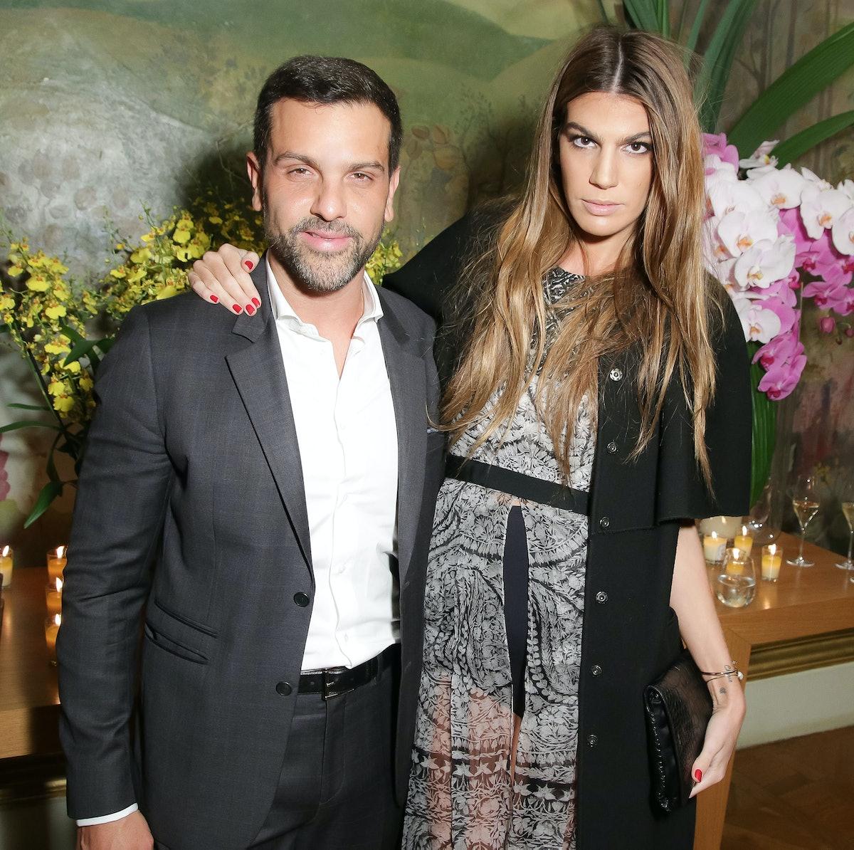 Alexandre Birman, pictured here with Bianca Brandolini,