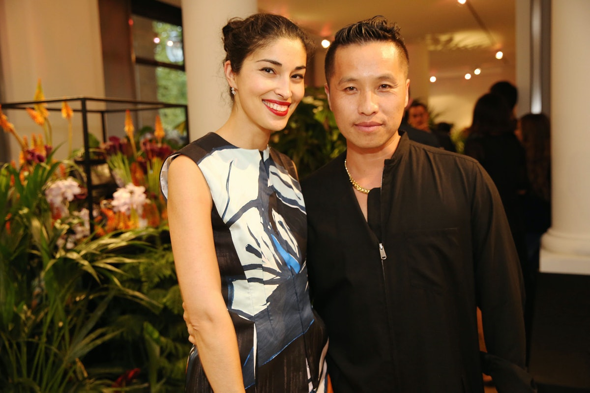 Phillip Lim, pictured with Caroline Issa