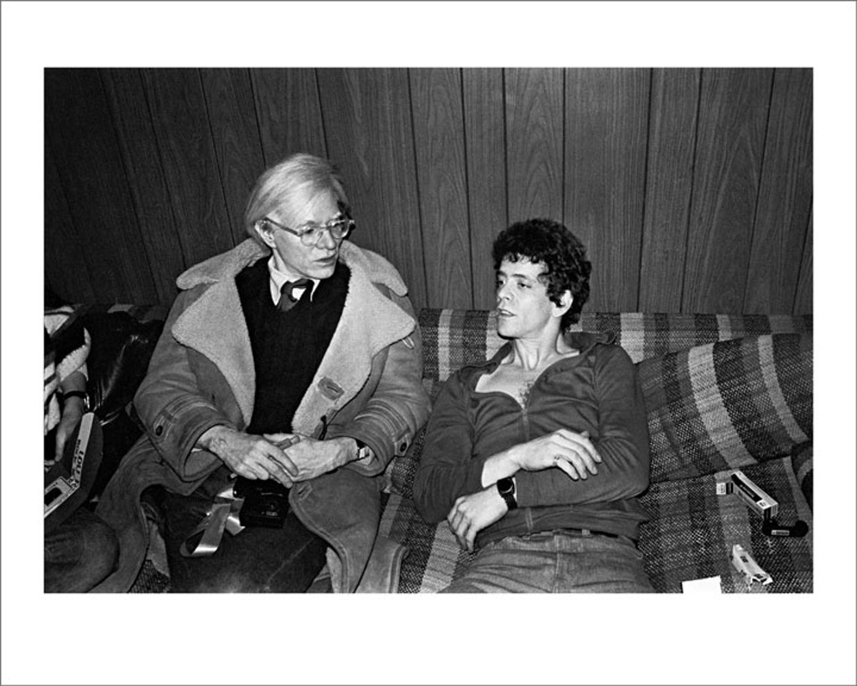 Andy Warhol and Lou Reed, New York, 1976 by Mick Rock
