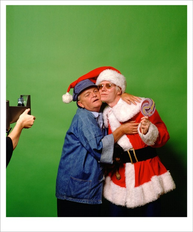 Truman Capote and Andy Warhol in New York, 1979 by Mick Rock