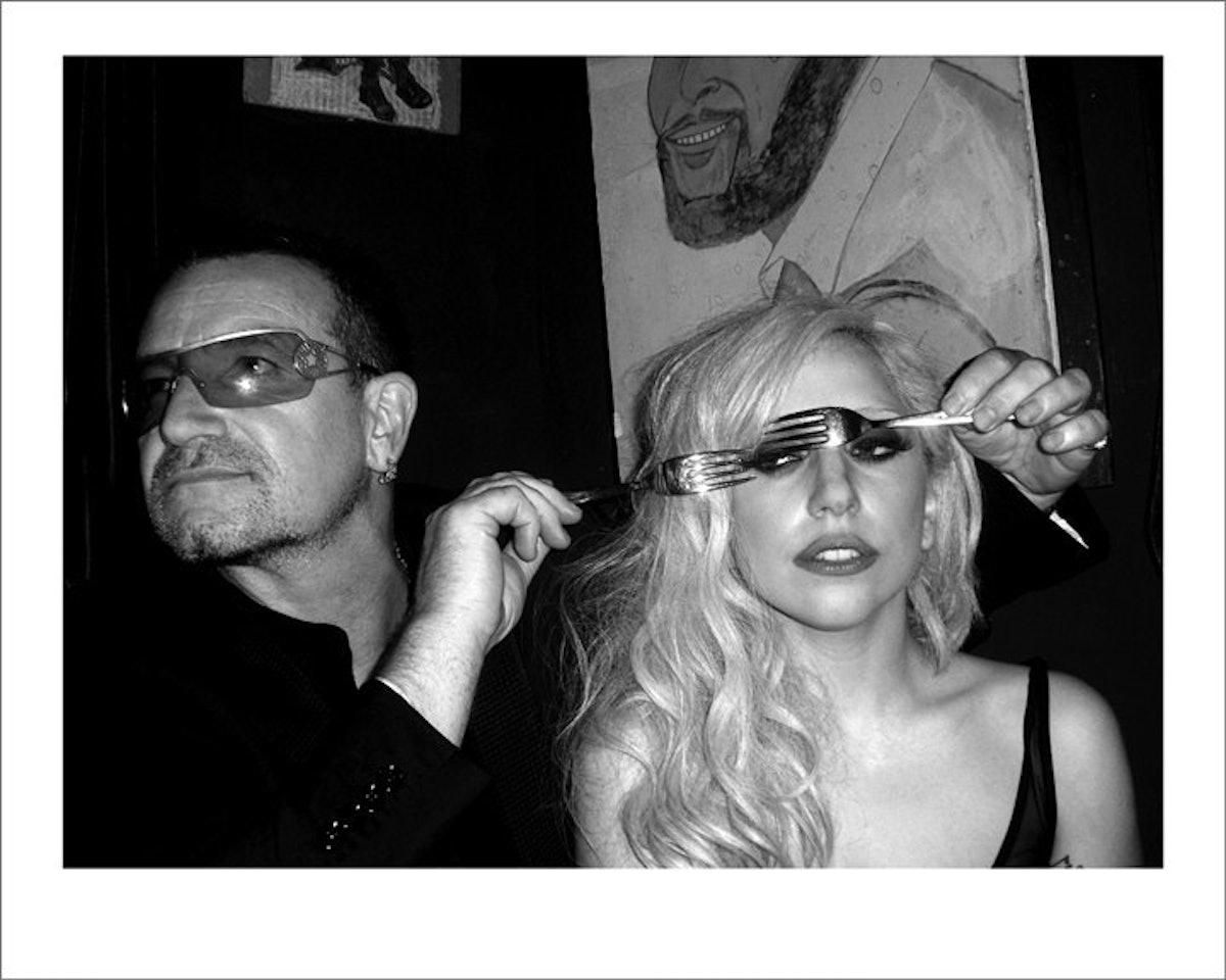 Bono and Lady Gaga, 2010 by Mick Rock