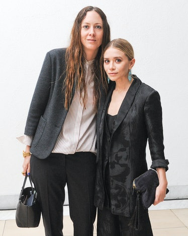 Ashley Olsen with a guest