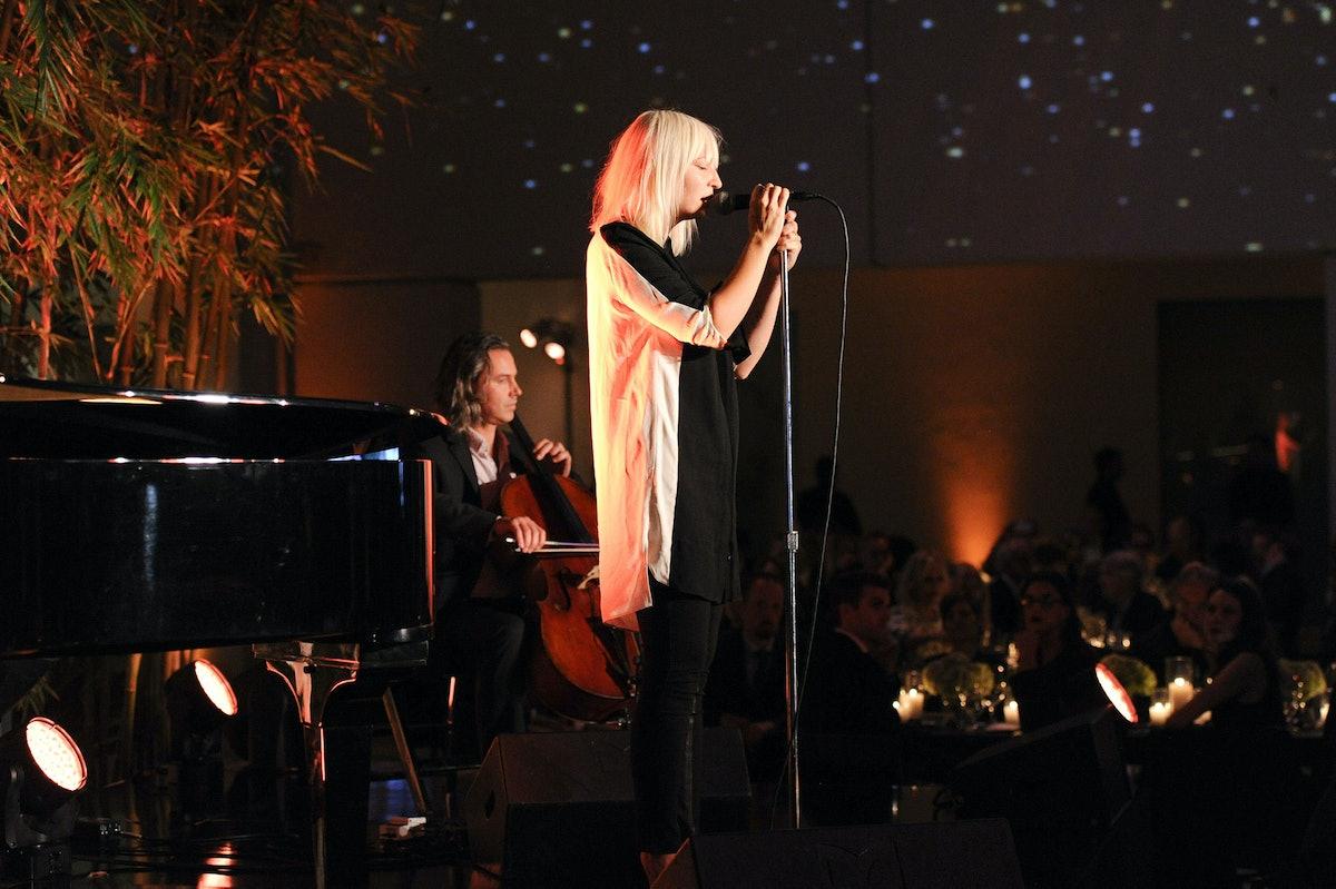 Sia performing