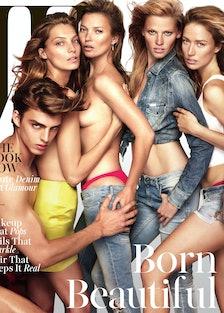 Daria Werbowy, Kate Moss, Lara Stone Cover