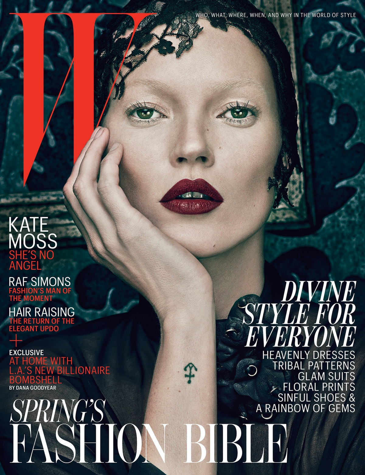 Kate Moss on the cover of W Magazine March 2012