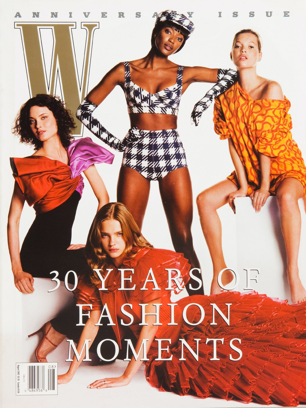 Shalom Harlow, Naomi Campbell, Kate Moss, and Natalia Vodianova on the cover of W