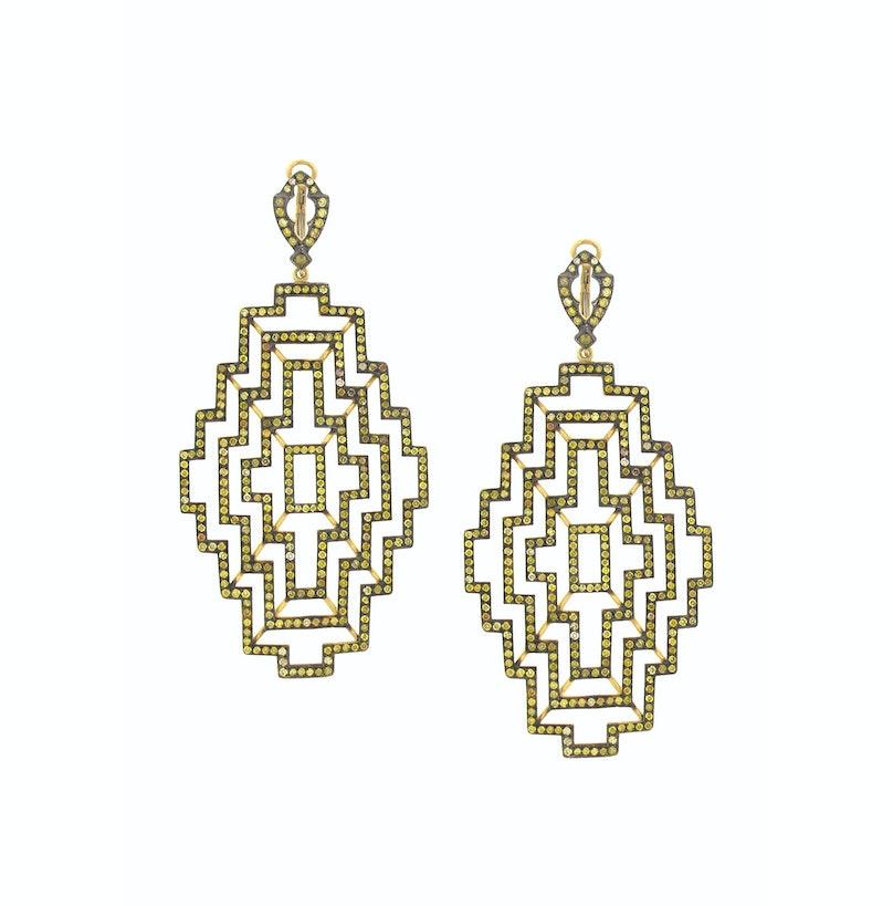 Loree Rodkin gold and diamond earrings