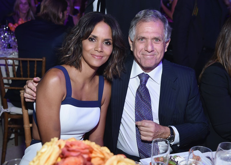 Halle Berry and Les Moonves