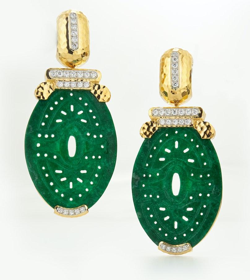 David Webb jade earrings