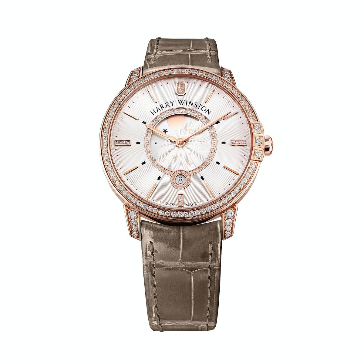 Harry Winston gold and diamond watch