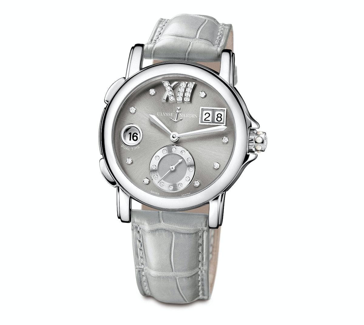 Ulysse Nardin steel and diamond watch